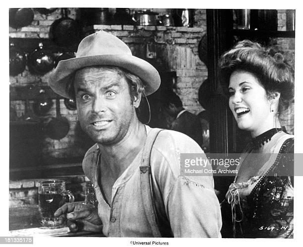Actor Terence Hill on set of the Universal Studio movie 'My Name Is Nobody' in 1973