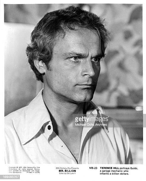 Actor Terence Hill poses for a portrait on the set of 'MrBillion' in circa 1977
