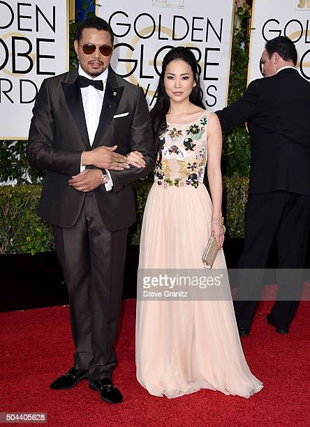 Actor Terence Howard and Mira Pak attend the 73rd Annual Golden Globe Awards held at the Beverly Hilton Hotel on January 10 2016 in Beverly Hills...