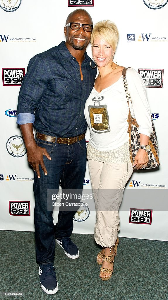 Actor Terrence Alan 'Terry' Crews and wife TV personality Rebecca King Crews attend the American Benefactor Foundation 'I WILL Be Great Leaders' Ceremony honoring Charles Alston at Drexel University on July 20, 2012 in Philadelphia, Pennsylvania.