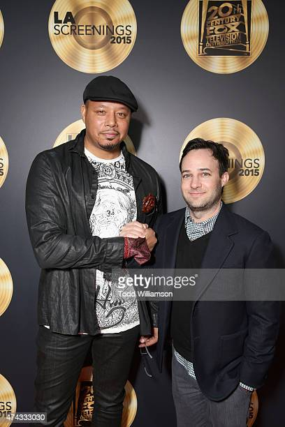 Actor Terrence Howard and executive producer Danny Strong attend the FOX Los Angeles Screenings Party 2015 on the Fox Studio Lot on May 21 2015 in...
