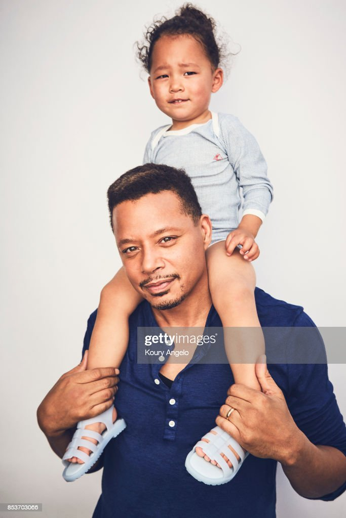 Actor Terrence Howard and his child are photographed for People Magazine on March 1, 2017 in Los Angeles, California.