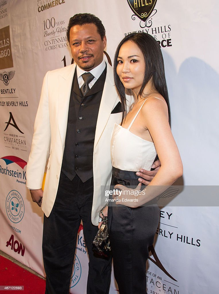 Actor <a gi-track='captionPersonalityLinkClicked' href=/galleries/search?phrase=Terrence+Howard&family=editorial&specificpeople=215196 ng-click='$event.stopPropagation()'>Terrence Howard</a> (L) and his wife Miranda Howard arrive at The Beverly Hills Chamber Of Commerce's