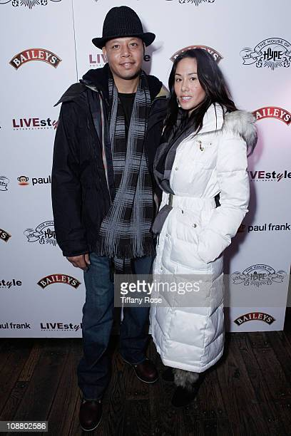 Actor Terrence Howard and Michelle Ghent attend The House of Hype LIVEstyle Lounge Day Event at Ciscero Restaurant on January 23 2011 in Park City...