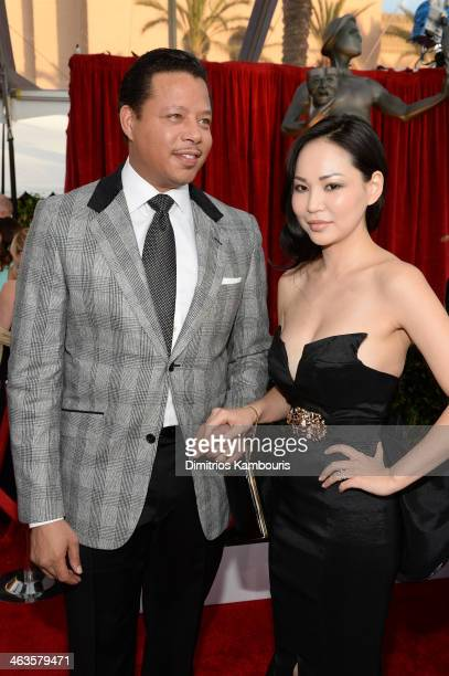 Actor Terrence Howard and Miranda Howard attend 20th Annual Screen Actors Guild Awards at The Shrine Auditorium on January 18 2014 in Los Angeles...