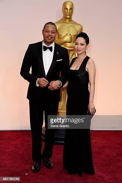 Actor Terrence Howard and Miranda Howard attend the 87th Annual Academy Awards at Hollywood Highland Center on February 22 2015 in Hollywood...