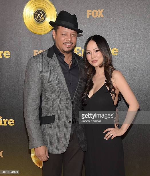 Actor Terrence Howard and wife Miranda Howard attend the premiere of Fox's 'Empire at ArcLight Cinemas Cinerama Dome on January 6 2015 in Hollywood...