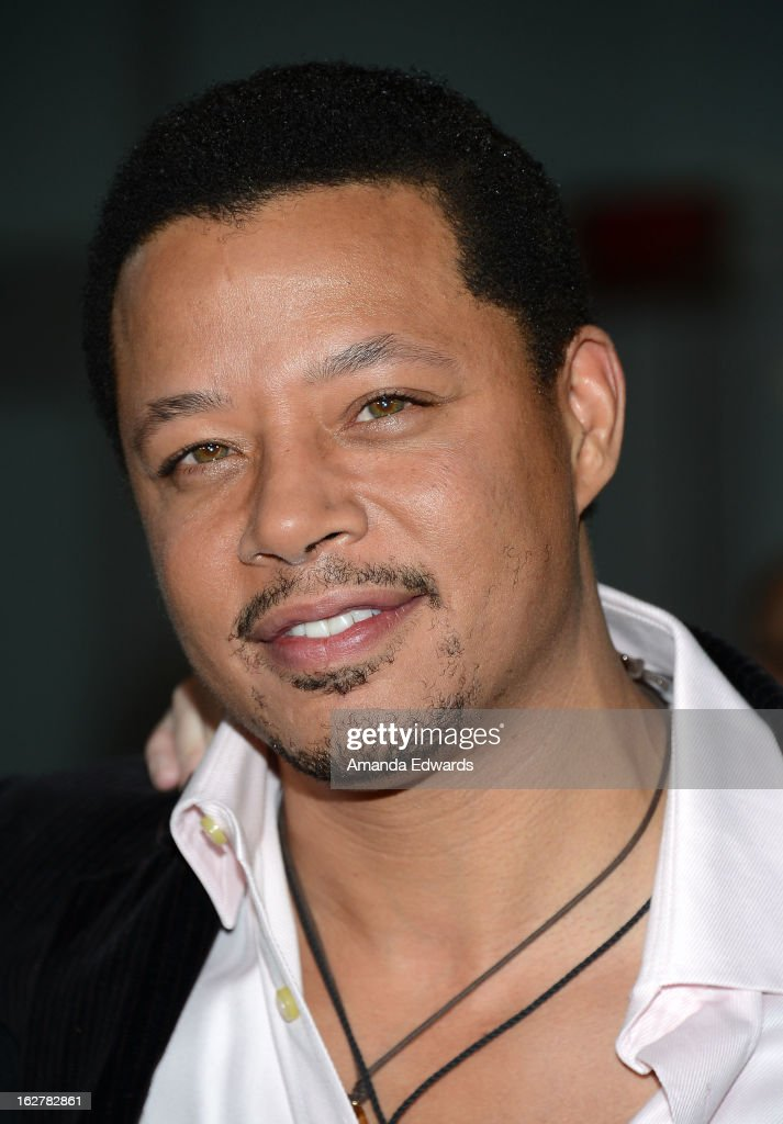 Actor <a gi-track='captionPersonalityLinkClicked' href=/galleries/search?phrase=Terrence+Howard&family=editorial&specificpeople=215196 ng-click='$event.stopPropagation()'>Terrence Howard</a> arrives at the Los Angeles Premiere of 'Dead Man Down' at ArcLight Hollywood on February 26, 2013 in Hollywood, California.