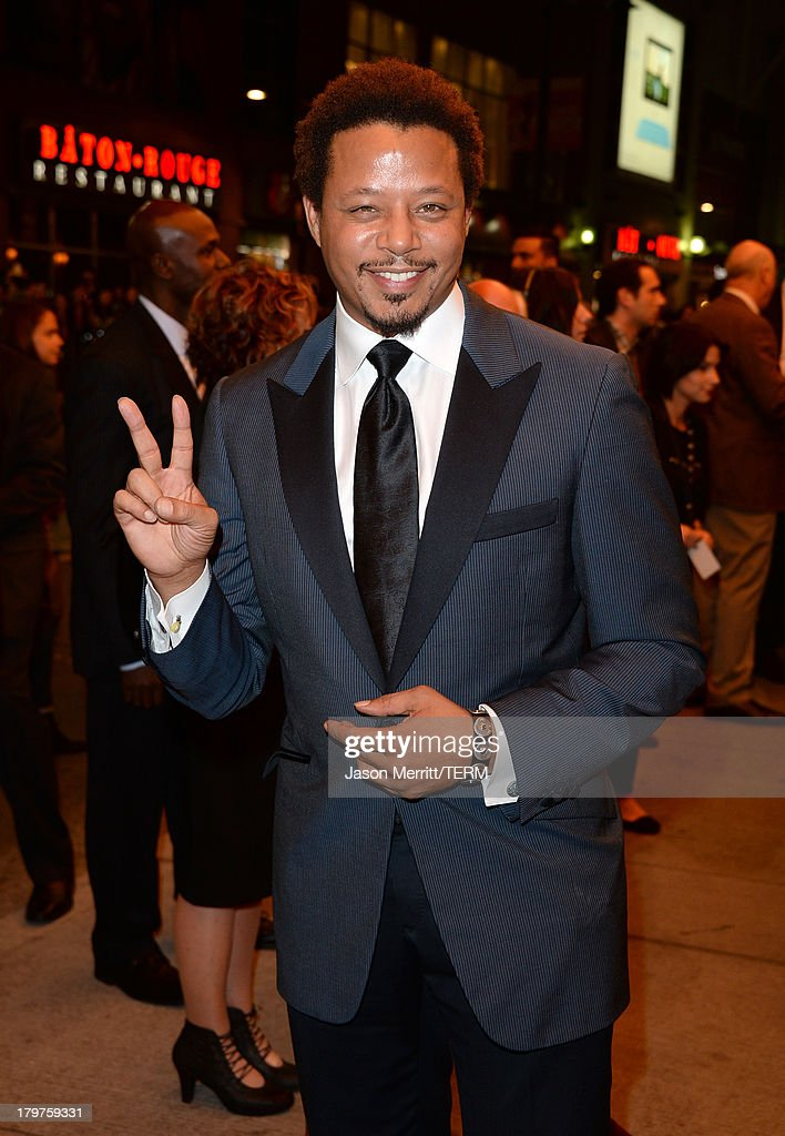 Actor <a gi-track='captionPersonalityLinkClicked' href=/galleries/search?phrase=Terrence+Howard&family=editorial&specificpeople=215196 ng-click='$event.stopPropagation()'>Terrence Howard</a> arrives at the 'Prisoners' premiere during the 2013 Toronto International Film Festival at The Elgin on September 6, 2013 in Toronto, Canada.