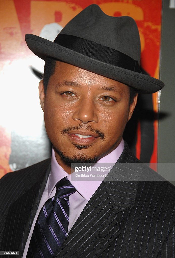 Actor Terrence Howard arrives during the premiere of 'The Hunting Party' at the Paris Theater on August 22, 2007 in New York City.