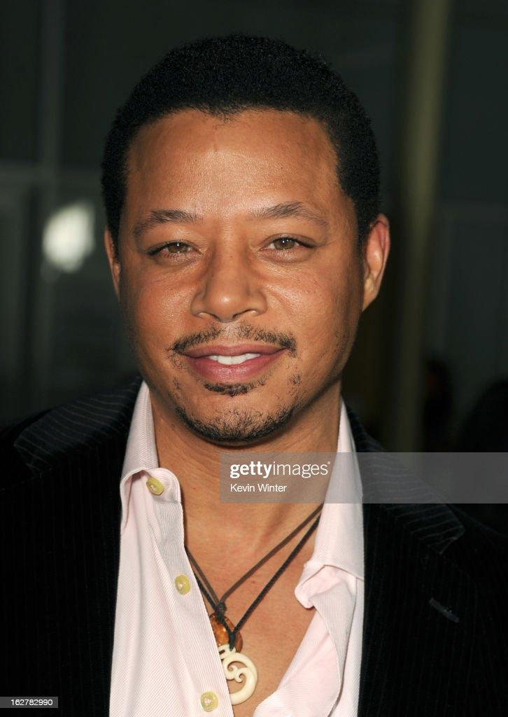 Actor <a gi-track='captionPersonalityLinkClicked' href=/galleries/search?phrase=Terrence+Howard&family=editorial&specificpeople=215196 ng-click='$event.stopPropagation()'>Terrence Howard</a> arrives to the premiere of FilmDistricts's 'Dead Man Down' at ArcLight Hollywood on February 26, 2013 in Hollywood, California.