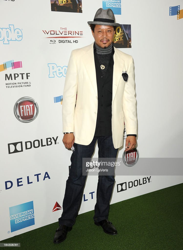 Actor <a gi-track='captionPersonalityLinkClicked' href=/galleries/search?phrase=Terrence+Howard&family=editorial&specificpeople=215196 ng-click='$event.stopPropagation()'>Terrence Howard</a> attends Hugh Jackman's 'One Night Only' benefitting the MPTF (Motion Picture & Television Fund) at Dolby Theatre on October 12, 2013 in Hollywood, California.