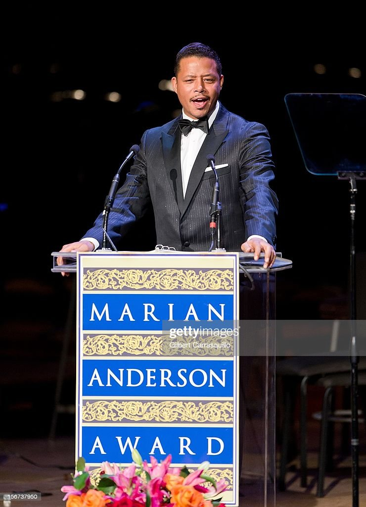 Actor <a gi-track='captionPersonalityLinkClicked' href=/galleries/search?phrase=Terrence+Howard&family=editorial&specificpeople=215196 ng-click='$event.stopPropagation()'>Terrence Howard</a> attends the 2012 Marian Anderson awards gala at Kimmel Center for the Performing Arts on November 19, 2012 in Philadelphia, Pennsylvania.