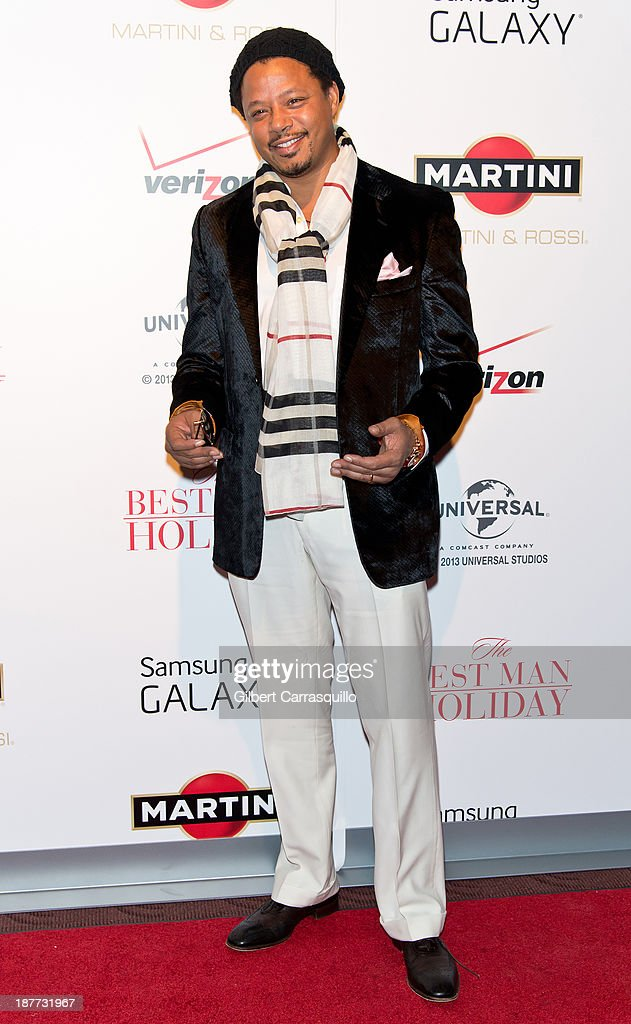 Actor <a gi-track='captionPersonalityLinkClicked' href=/galleries/search?phrase=Terrence+Howard&family=editorial&specificpeople=215196 ng-click='$event.stopPropagation()'>Terrence Howard</a> attends 'The Best Man Holiday' screening at Chelsea Bow Tie Cinemas on November 11, 2013 in New York City.