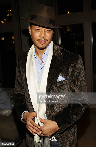 Actor Terrence Howard attends the dinner for 'Sleepwalking' hosted by The Cinema Society and Dior Beauty at The Soho Grand Hotel March 11 2008 in New...