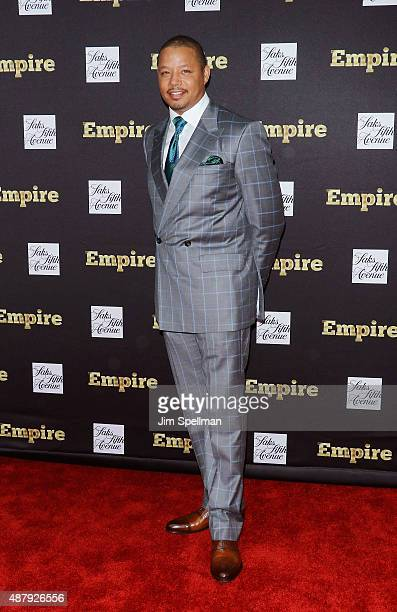 Actor Terrence Howard attends the 'Empire' curated collection unveiling at Saks Fifth Avenue on September 12 2015 in New York City