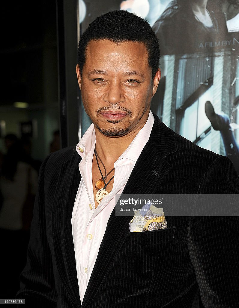 Actor <a gi-track='captionPersonalityLinkClicked' href=/galleries/search?phrase=Terrence+Howard&family=editorial&specificpeople=215196 ng-click='$event.stopPropagation()'>Terrence Howard</a> attends the premiere of 'Dead Man Down' at ArcLight Cinemas on February 26, 2013 in Hollywood, California.