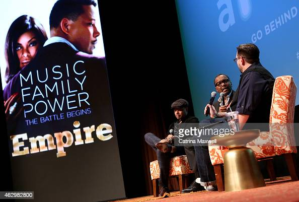 Actor Terrence Howard executive producer Lee Daniels and senior writer at TV Guide Magazine Damian Holbrook speak during the Primetime Series...