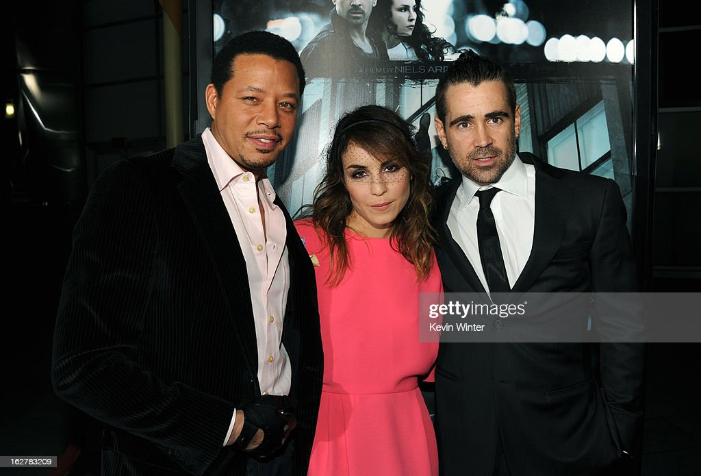 Actor Terrence Howard, Noomi Rapace and Colin Farrell arrive to the premiere of FilmDistricts's 'Dead Man Down' at ArcLight Hollywood on February 26, 2013 in Hollywood, California.