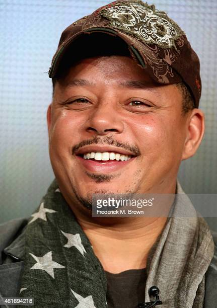 Actor Terrence Howard speaks onstage during the 'Empire' panel discussion at the FOX portion of the 2015 Winter TCA Tour at the Langham Hotel on...