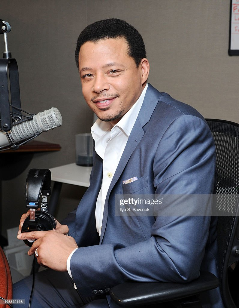 Actor Terrence Howard visits 'The Morning Jolt With Larry Flick' at the SiriusXM Studios on March 8, 2013 in New York City.