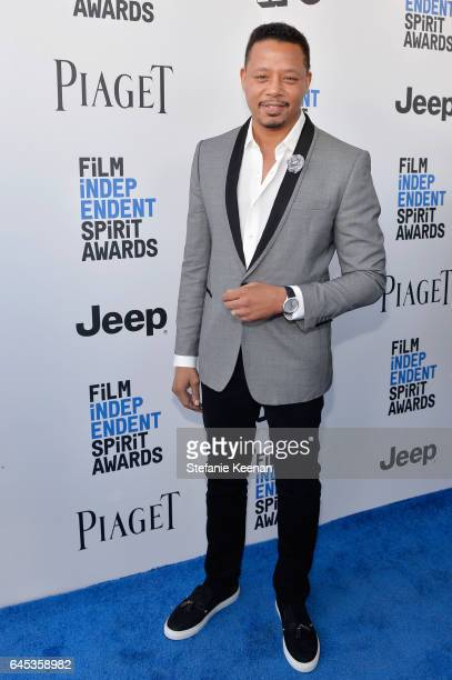 Actor Terrence Howard with Piaget at the 2017 Film Independent Spirit Awards at Santa Monica Pier on February 25 2017 in Santa Monica California