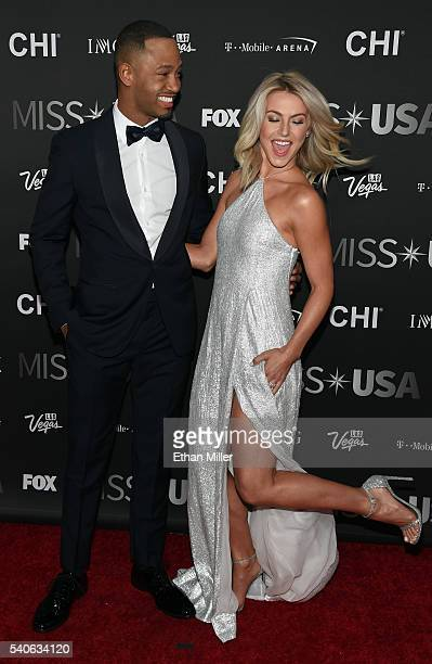 Actor Terrence J and dancer/actress Julianne Hough attend the 2016 Miss USA pageant at TMobile Arena on June 5 2016 in Las Vegas Nevada