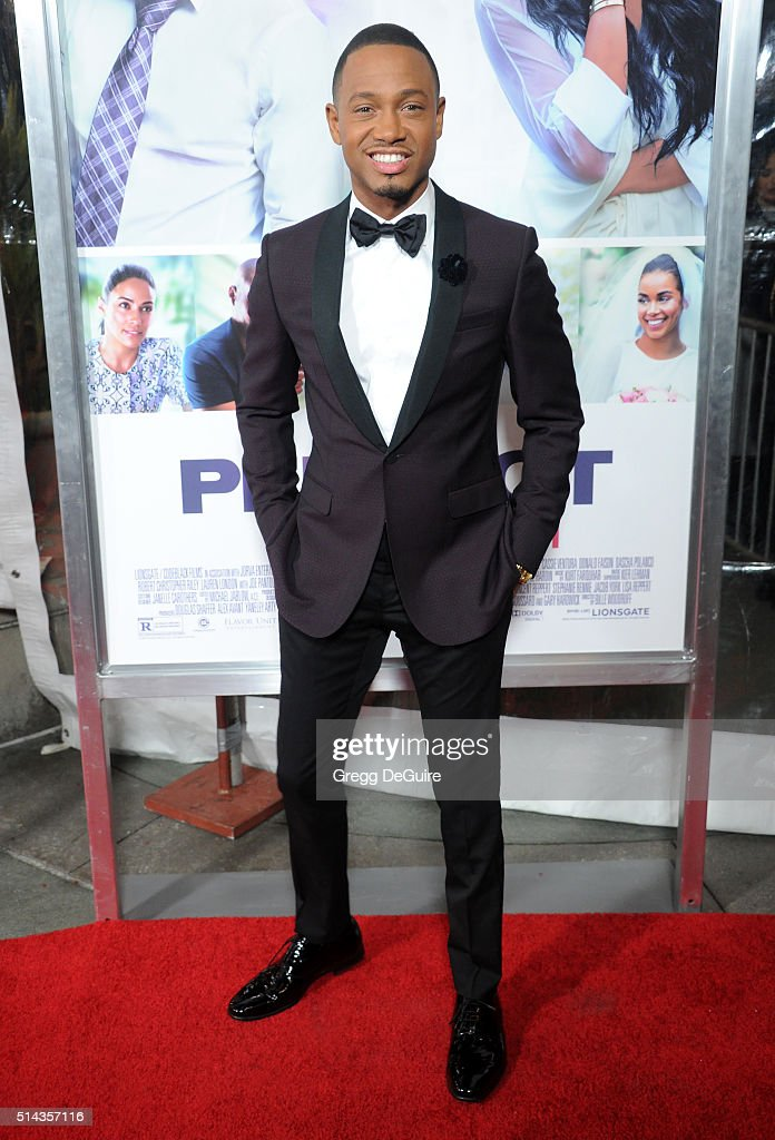 Actor Terrence J arrives at the premiere of Lionsgate's 'The Perfect Match' at ArcLight Hollywood on March 7, 2016 in Hollywood, California.