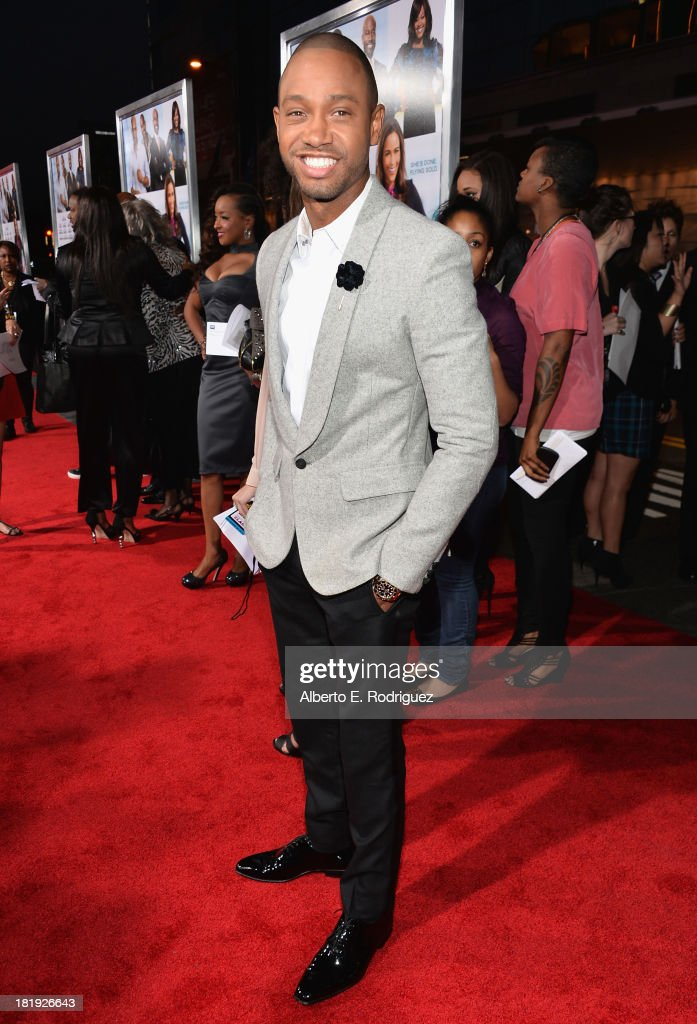 Actor Terrence J. attends the premiere of Fox Searchlight Pictures' 'Baggage Claim' at Regal Cinemas L.A. Live on September 25, 2013 in Los Angeles, California.