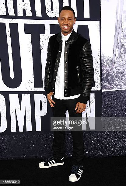 Actor Terrence J attends the premiere of 'Straight Outta Compton' at Microsoft Theater on August 10 2015 in Los Angeles California