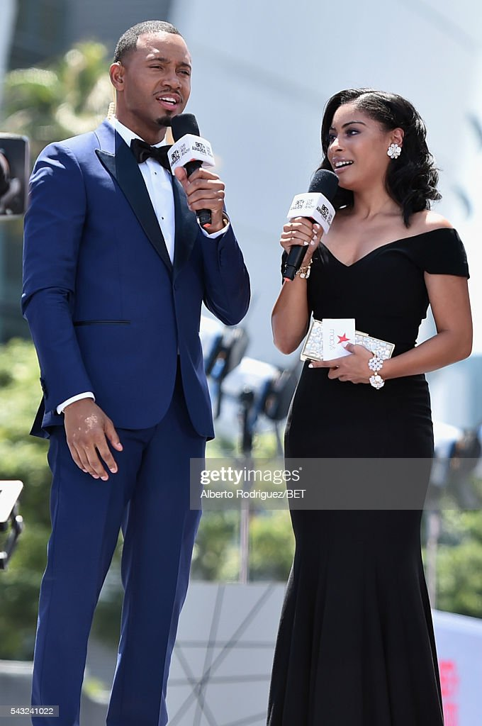Actor <a gi-track='captionPersonalityLinkClicked' href=/galleries/search?phrase=Terrence+J&family=editorial&specificpeople=4419581 ng-click='$event.stopPropagation()'>Terrence J</a>enkins(L) and actress Katlynn Simone attend the 2016 BET Awards at the Microsoft Theater on June 26, 2016 in Los Angeles, California.