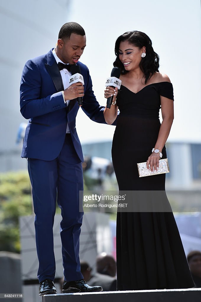 Actor <a gi-track='captionPersonalityLinkClicked' href=/galleries/search?phrase=Terrence+J&family=editorial&specificpeople=4419581 ng-click='$event.stopPropagation()'>Terrence J</a>enkins (L) and actress Katlynn Simone attend the 2016 BET Awards at the Microsoft Theater on June 26, 2016 in Los Angeles, California.