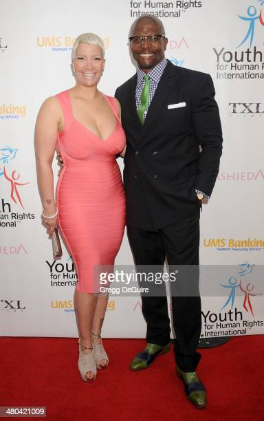 Actor Terry Crews and Rebecca Crews arrive at the Youth For Human Rights International Celebrity Benefit at Beso on March 24 2014 in Hollywood...