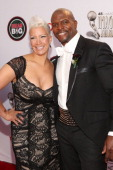 Actor Terry Crews and Rebecca Crews attends the 45th NAACP Image Awards presented by TV One at Pasadena Civic Auditorium on February 22 2014 in...