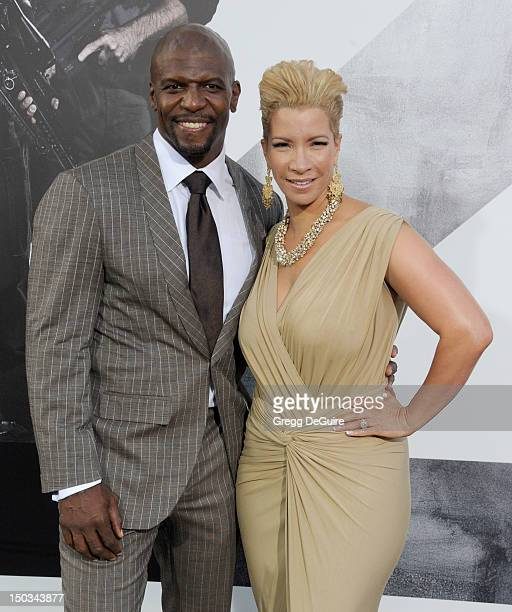 Actor Terry Crews and wife Rebecca KingCrews arrive at Los Angeles premiere of 'The Expendables 2' at Grauman's Chinese Theatre on August 15 2012 in...