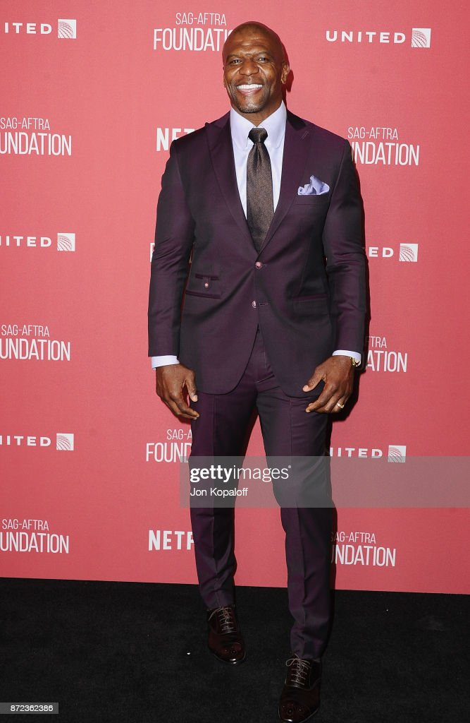 Actor Terry Crews arrives at SAG-AFTRA Foundation Patron of the Artists Awards 2017 on November 9, 2017 in Beverly Hills, California.