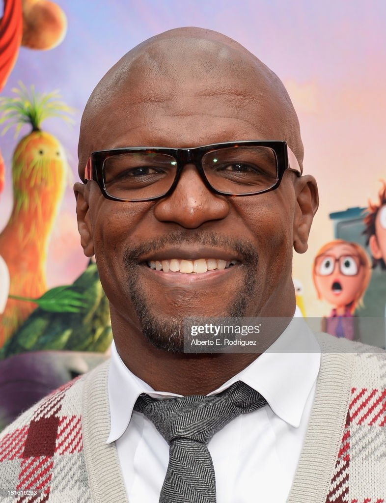 Actor Terry Crews arrives to the premiere of Columbia Pictures and Sony Pictures Animation's 'Cloudy With A Chance of Meatballs 2' at the Regency Village Theatre on September 21, 2013 in Westwood, California.
