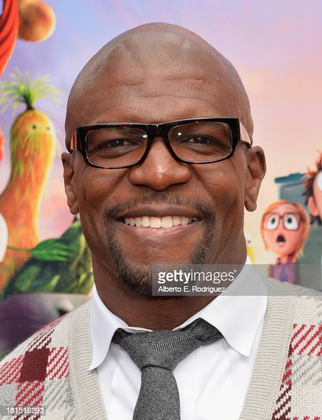 Actor Terry Crews arrives to the premiere of Columbia Pictures and Sony Pictures Animation's 'Cloudy With A Chance of Meatballs 2' at the Regency...