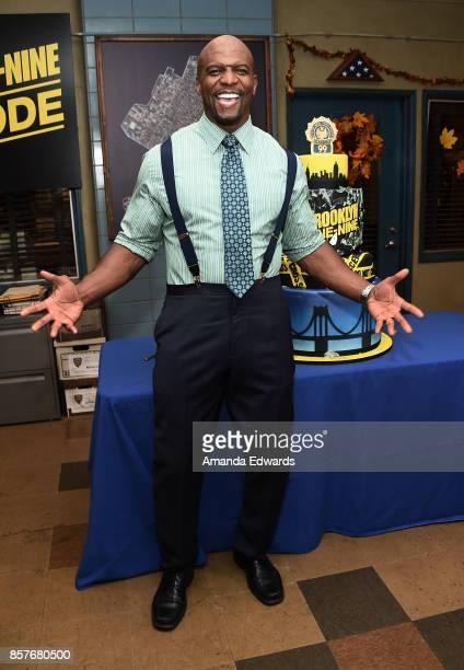 Actor Terry Crews attends Fox's 'Brooklyn NineNine' 99th Episode celebration at CBS Studio Center on October 4 2017 in Studio City California