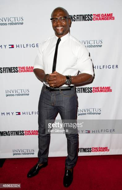 Actor Terry Crews attends the 2014 Men's Fitness Game Changers Celebration at Palihouse Holloway on September 17 2014 in West Hollywood California