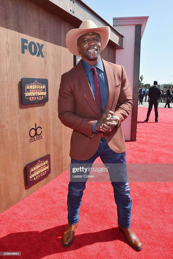 Actor Terry Crews attends the 2016 American Country Countdown Awards at The Forum on May 1, 2016 in Inglewood, California.
