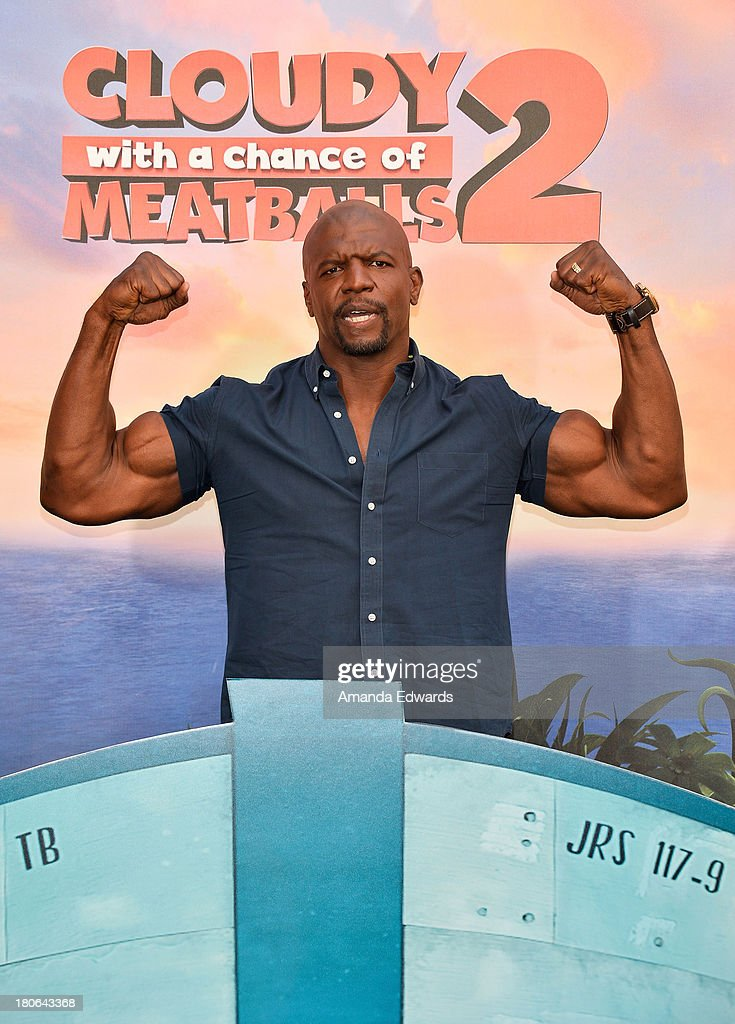Actor <a gi-track='captionPersonalityLinkClicked' href=/galleries/search?phrase=Terry+Crews&family=editorial&specificpeople=569932 ng-click='$event.stopPropagation()'>Terry Crews</a> attends the 'Cloudy With A Chance Of Meatballs 2' - Los Angeles Photo Call at Four Seasons Hotel Los Angeles at Beverly Hills on September 15, 2013 in Beverly Hills, California.