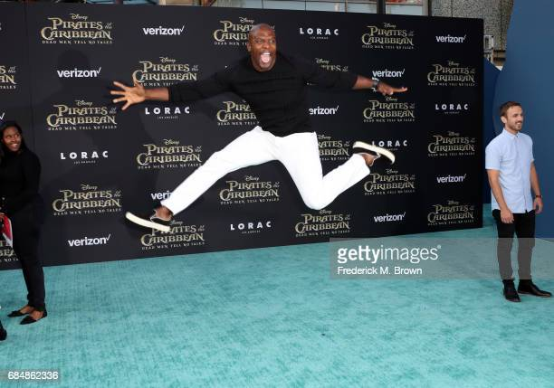 Actor Terry Crews attends the premiere of Disney's 'Pirates Of The Caribbean Dead Men Tell No Tales' at Dolby Theatre on May 18 2017 in Hollywood...