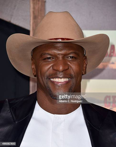 Actor Terry Crews attends the premiere of Netflix's 'The Ridiculous 6' at AMC Universal City Walk on November 30 2015 in Universal City California
