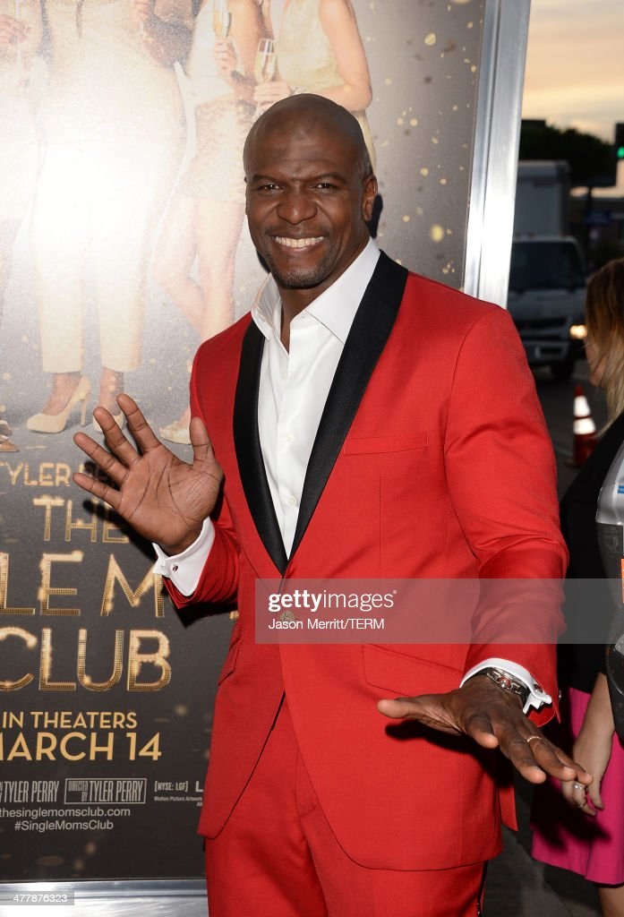 Actor <a gi-track='captionPersonalityLinkClicked' href=/galleries/search?phrase=Terry+Crews&family=editorial&specificpeople=569932 ng-click='$event.stopPropagation()'>Terry Crews</a> attends the premiere Of Tyler Perry's 'The Single Moms Club' at ArcLight Cinemas Cinerama Dome on March 10, 2014 in Hollywood, California.