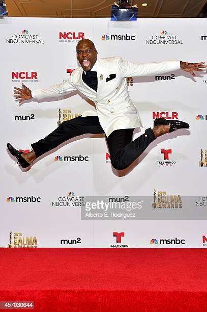 Actor Terry Crews attends the Winner's Walk during the 2014 NCLR ALMA Awards at the Pasadena Civic Auditorium on October 10 2014 in Pasadena...