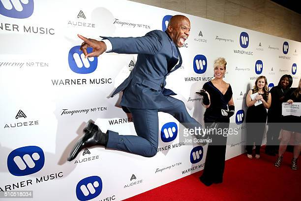 Actor Terry Crews attends Warner Music Group's annual Grammy celebration at Milk Studios Los Angeles on February 15 2016 in Los Angeles California