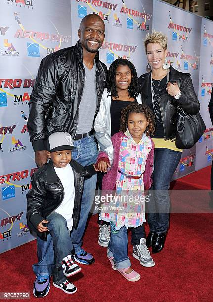 Actor Terry Crews his wife Rebecca and their children Tera Isiah and Wynfrey arrive at the premiere of Summit Entertainment and Imagi Studios' 'Astro...