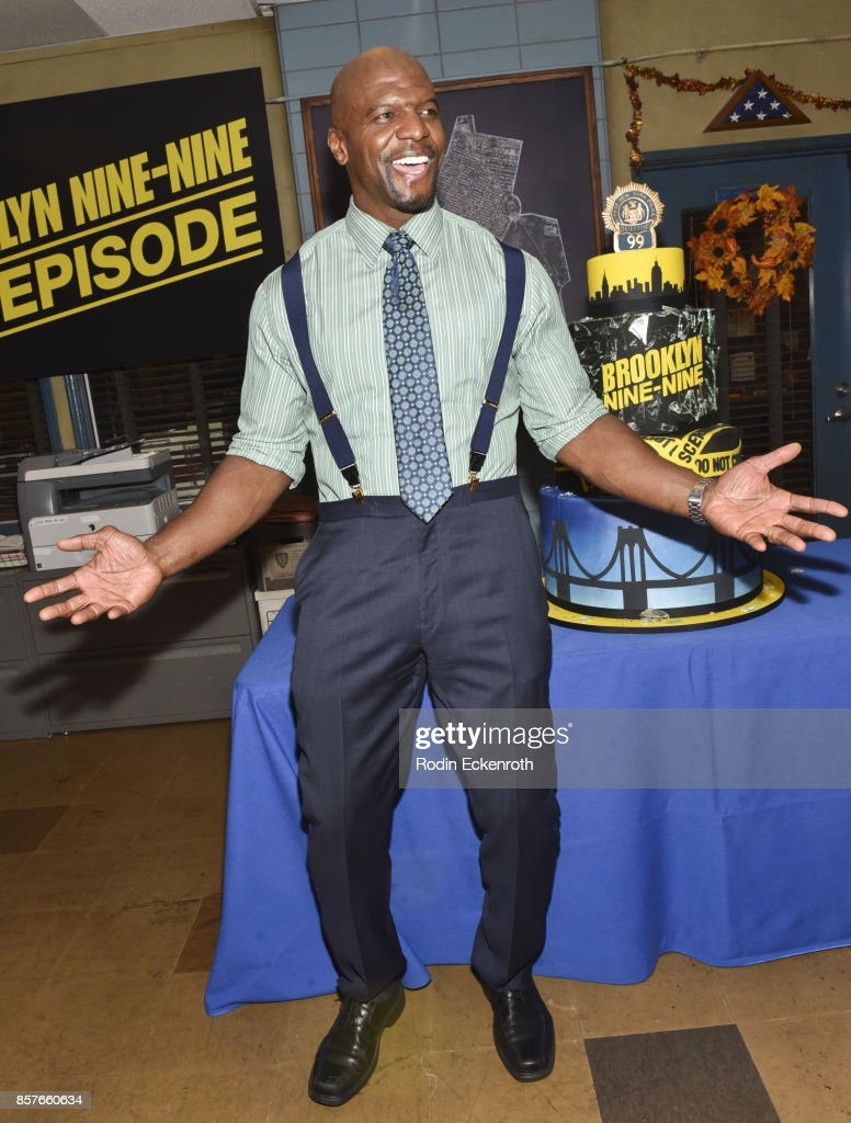 Actor Terry Crews poses for portrait as Fox's 'Brooklyn Nine-Nine' celebrates their 99th episode at CBS Studio Center on October 4, 2017 in Studio City, California.
