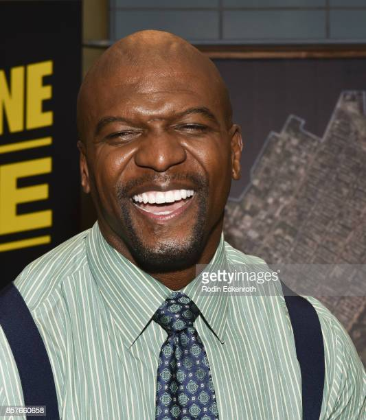 Actor Terry Crews poses for portrait as Fox's 'Brooklyn NineNine' celebrates their 99th episode at CBS Studio Center on October 4 2017 in Studio City...